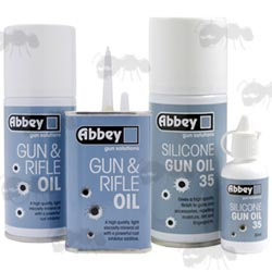 Abbey Gun & Rifle Mineral and Silicone Oil Tin, Bottle and Aerosols