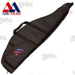 Air Arms Offical Black Canvas Rifle Case with Red and Blue Logo