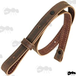 AnTac Thick Brown Leather Gun Slings