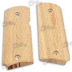 Real Wood Handle Grip Panels for Tokyo Marui ARMY Detonics Combat Master Pistols