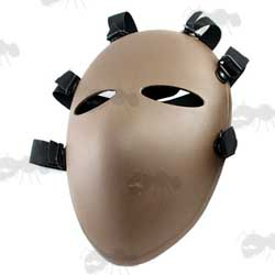 Dark Earth Colour Ballistic Style Plastic Airsoft Mask