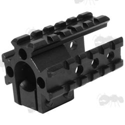 Open Design Front Sight Base Tri-Rail Mount