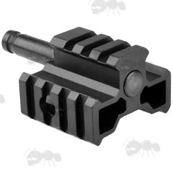Spigot Bipod Adapter with Tri-Rails