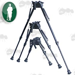 Assorted Length Bisley Telescopic Leg Rifle Bipod ~ For Attaching to QD Sling Swivel Studs