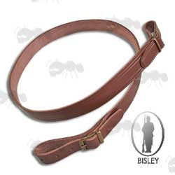 Bisley Standard Brown Leather Rifle / Shotgun Sling