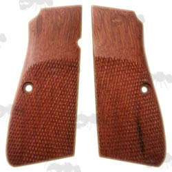 Pair of Browning Hi-Power Wooden Pistol Handle Panels