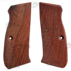 CZUB 75 / 85 Wooden Pistol Grips with Checkered Pattern