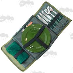 Day Cutlery Eating Set in Tough Green Case