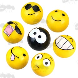 Set of Emoji Face Tyre Valve Dust Covers