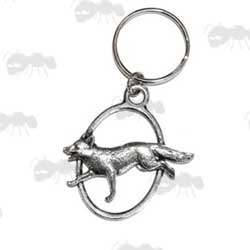 English Made Pewter Fox Key Ring