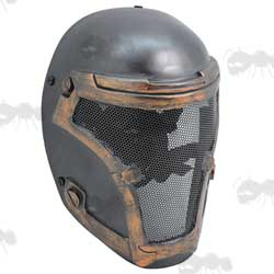 Airsoft Soldier Mask with Large Perforated Mesh Face Panel