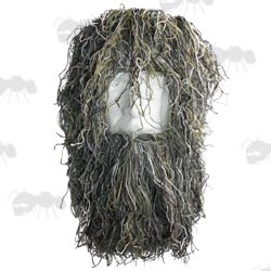 Camouflage Hood for Ghillie Suit on Display Head