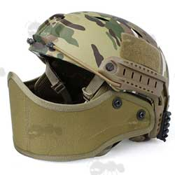 Coyote Tan Helmet Fitting Lower Face Guard