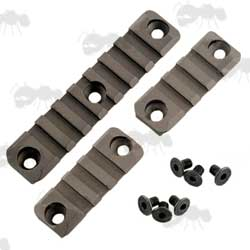 HK416 Rifle Forend Accessory Rail Set in Coyote Brown