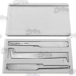 Compact Lock Pick Set in Credit Card Style Case