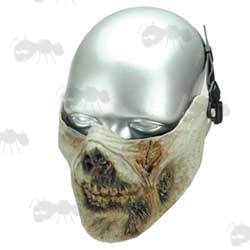 Rotten Zombie Flesh Lower Half Face Mask