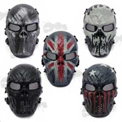 Set of Five Warrior Airsoft Masks