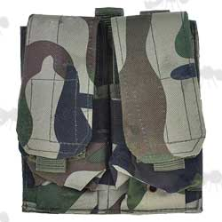 DPM Woodland Camo M4 Series Double Magazine MOLLE Pouch