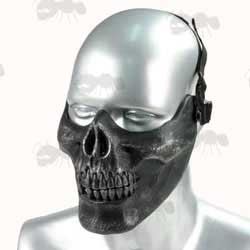 MO3 Lower Face Black and Silver Colour Skeleton Jaw Airsoft Mask
