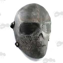 Fibreglass Black with Silver Detail Army of Two Type Rios Airsoft Mask