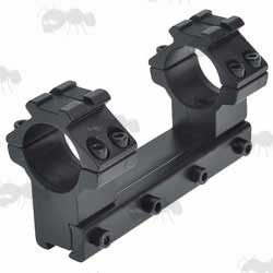 Long Base, One Piece, High Profile 25mm Scope Ring Mounts for Dovetail Rails with Rail Tops