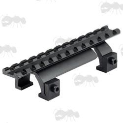 Black MP5 Low-Profile Sight Base Extended Rail Claw Mount