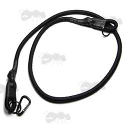 Flyye Black MP7 Bungee Cord Sling with Quick-Release Metal Gun Clip