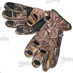 Green Fishing Gloves with Textured Grips and Velcro Wrist Adjusters