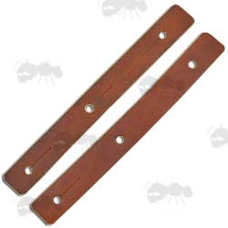 Pair of Brown Leather Tab Loops for AK Rifle Slings