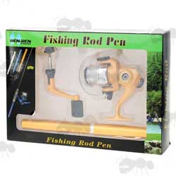 Minature Fishing Rod and Reel in Packaging