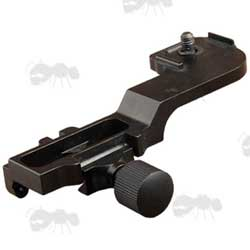 Black Metal Rail Mount for PVS-14 Style Night Vision Monoculars