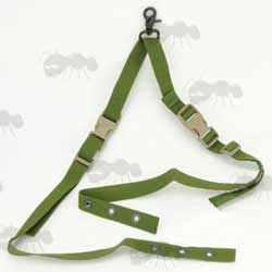 One Point Olive Green Rifle Sling for CIRAS Vests with QD Buckles