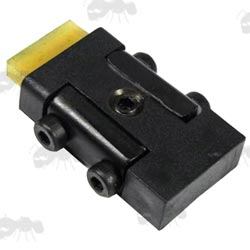 9.5-11mm Dovetail Rail Recoil Arrestor Block with Rubber Pad