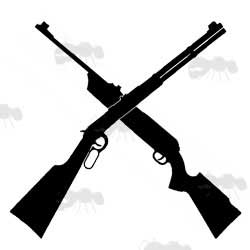 Silhouette of Two Crossed Rifles