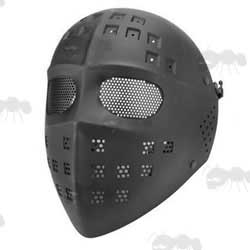 Black Salem Styled Airsoft Hockey Mask