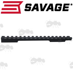 Side View of a One Piece Savage 10 MOA Picatinny Rail
