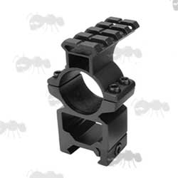 High-Profile Double Clamped 25mm Scope Ring for Weaver / Picatinny Rails with Rail Head