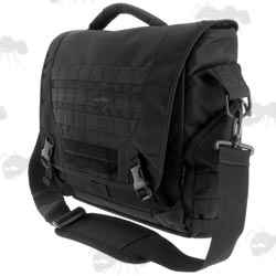 1200D Black Polyester Ballistic Shooters Messanger Bag With 16 Litre Capacity