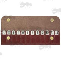 Burgundy Colour Leather Wallet with 12 Shooting Position Finders