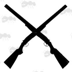 Silhouette of Crossed Shotguns