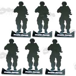 Six Army Men Airsoft Targets