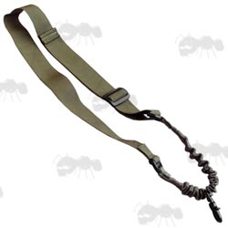 Green One Point Bungee CBQ Rifle Sling
