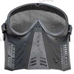 Black Basic Airsoft Masks with Mesh Goggles