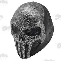 Grey Fiberglass Marvel Comics The Punisher Style Airsoft Mask