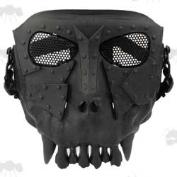 Black Desert Corps Thornling Half Face Airsoft Mask with Mesh Eyes