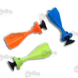 3 x Toy Crossbow Sucker Darts, Orange, Blue and Yellow