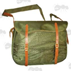 SMK Traditional Green Canvas with Leather Fittings Game Bag