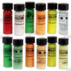 Set of Six TruGlo Ghost Sight Paint Kit and Set of Six Bright Sight Paint Kit