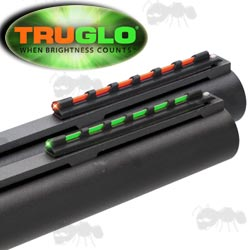 Truglo Universal Shotgun Rib Fitting Red and Green Coloured Fiber Glo Dot Sights
