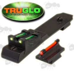 Truglo Henry Lever Action Rifle Sight Set, Green Fiber Optic Rear and Red Front Sight